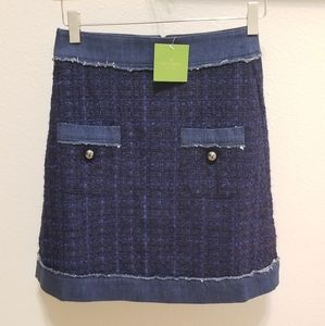 Kate Spade Broome Street Denim Tweed Mini Skirt